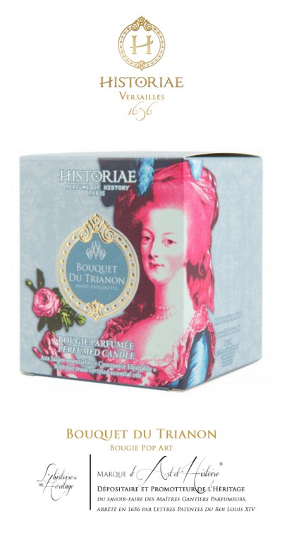 HISTORIAE Bouquet du Trianon - Bougie parfumée Pop Art 190g