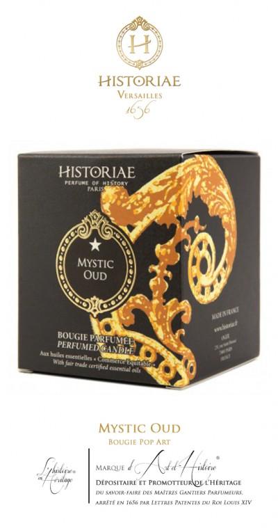 HISTORIAE Mystic Oud - Bougie Pop Art 190g (50 heures)
