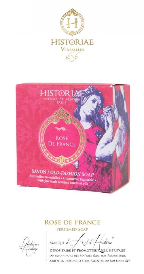 HISTORIAE Rose de France - Savon Parfumé 100g