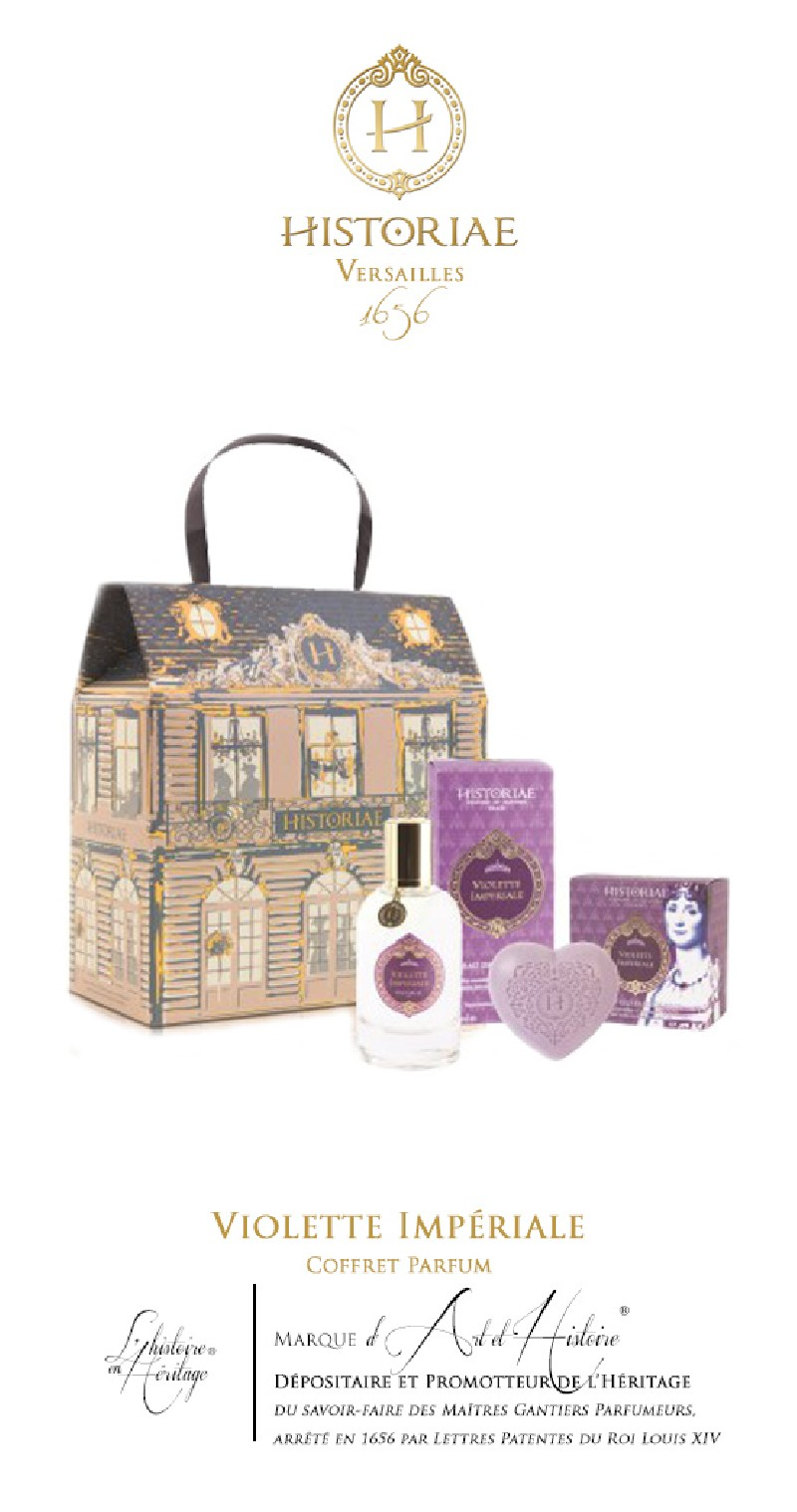 HISTORIAE Violette Impériale - Coffret Parfum 50ml + savon 100 gr