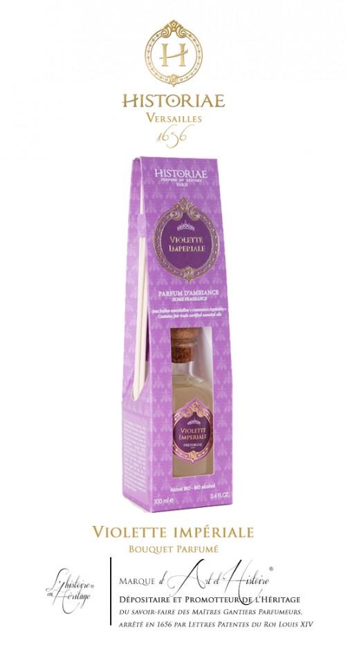 Violette Impériale - Bouquet Parfumé (diffuseur rotins)