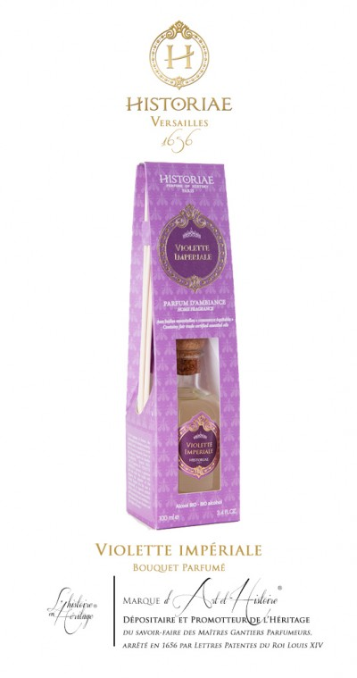 HISTORIAE Violette Impériale - parfum d'intérieur (diffuseur rotins) 100ml