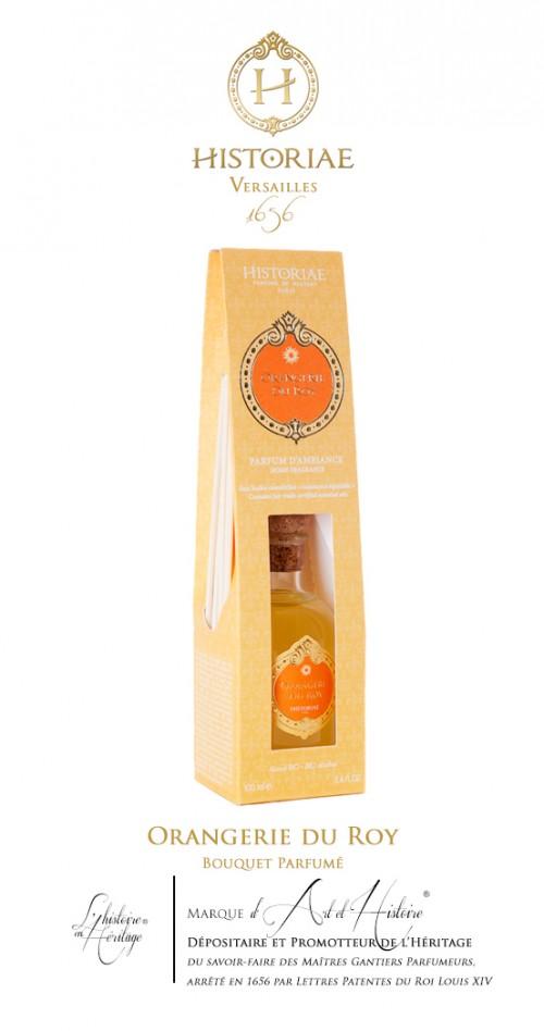 HISTORIAE Orangerie du Roy - parfum d'intérieur diffuseur rotins 100ml