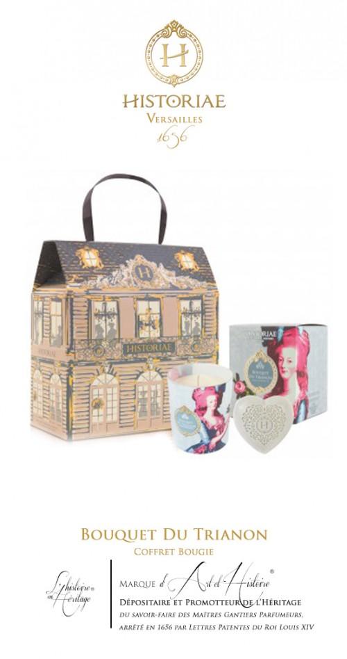 HISTORIAE Bouquet du Trianon - Coffret Cadeau Bougie d'Art