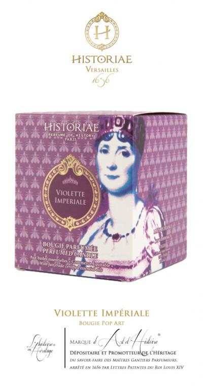 HISTORIAE Violette Impériale - Bougie parfumée Pop Art 190g (50h)
