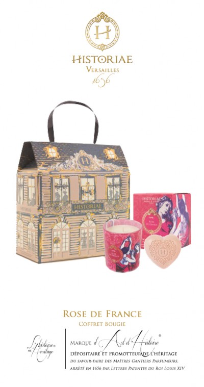HISTORIAE Rose de France - Coffret Bougie