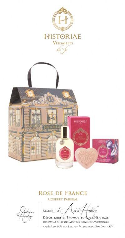 HISTORIAE Rose de France - Coffret CHATEAU Parfum 50ml + savon 100 gr