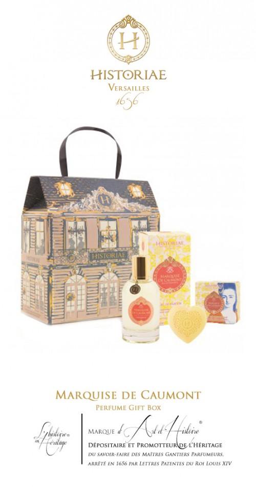 HISTORIAE Marquise de Caumont - Coffret CHATEAU Parfum 50ml + savon 100 gr