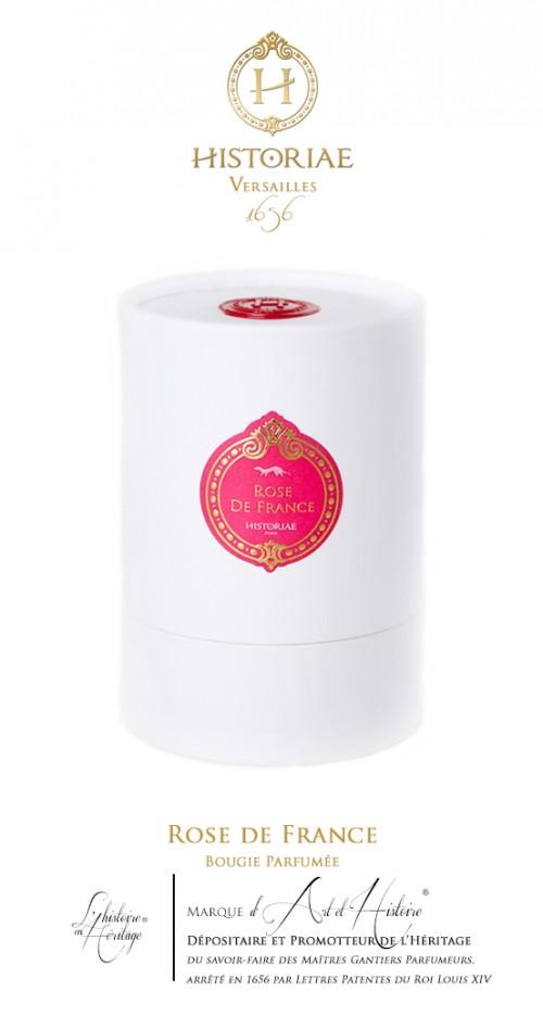 HISTORIAE Rose de France - Bougie parfumée 180g (40h)