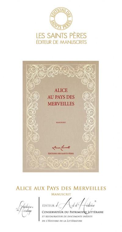 Alice aux Pays des Merveilles - Manuscrit Historique